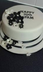 Black and White 70th Birthday
